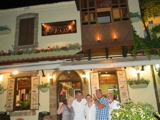 Mam, Nico, Ulti, Wez and Dad at Eros Restaurant (L-R)