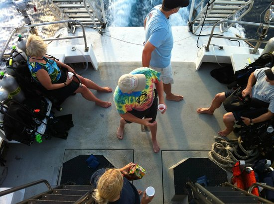 Seasport Divers: hanging out on the boat