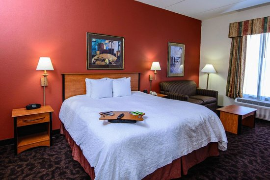 Hampton Inn Houston Pearland : Hampton Inn Houston-Pearland Hotel Suite with King Bed and Two Sofa Beds