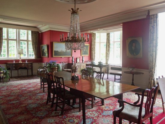 Burton Agnes Hall: Red drawing room