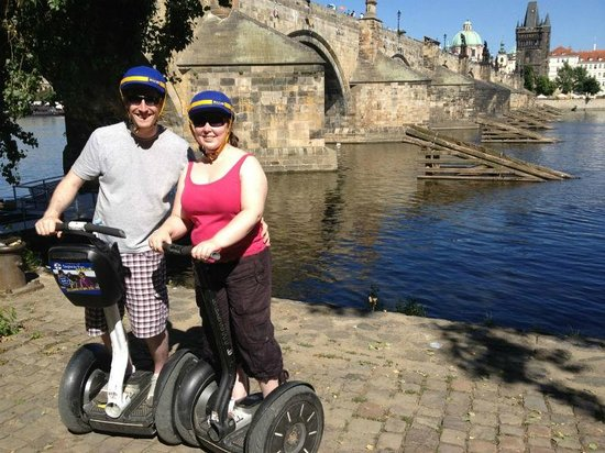 SEGWAY EXPERIENCE: Segway and E-Scooter Tours: 50.086633, 14.409399 Below Charles Bridge