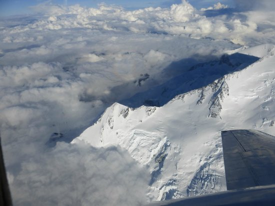 Fly Denali: Clouds beneath us
