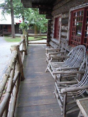 Raquette Lake Navigation Co: Pine Knot front porch