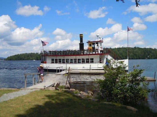 Raquette Lake Navigation Co: The W. W. Durant cruise boat on Lake Raquette