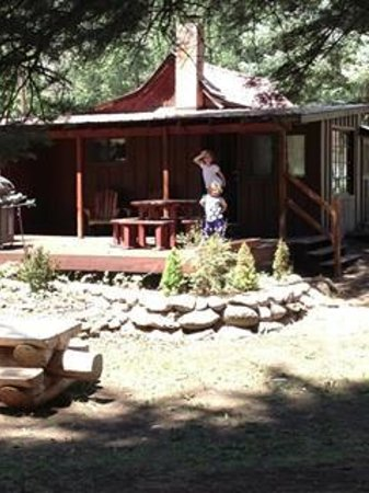O-Bar-O Cabins : Back Deck of the Ponderosa
