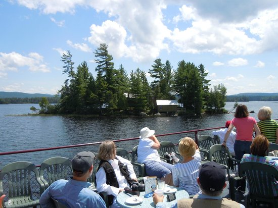 Raquette Lake Navigation Co: View from the top level of the W.W. Durant