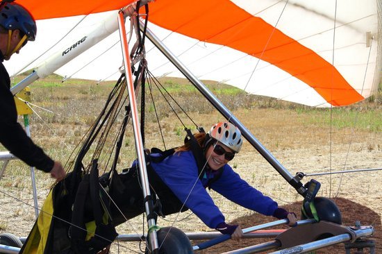 Cowboy Up Hang Gliding: Getting ready for the adventure.