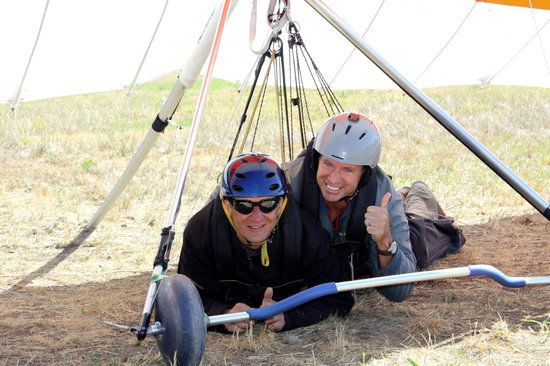 Cowboy Up Hang Gliding: Landing was A-OK!