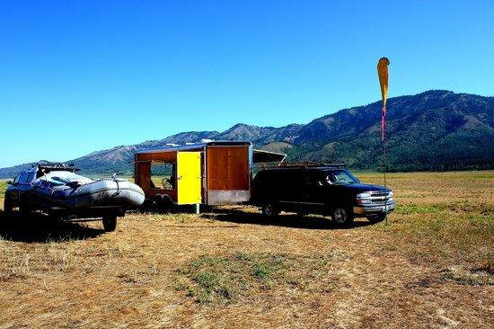 Cowboy Up Hang Gliding : Arriving at base camp.