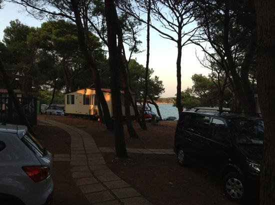 Camping Arena Stupice: Vista bungalow fronte mare