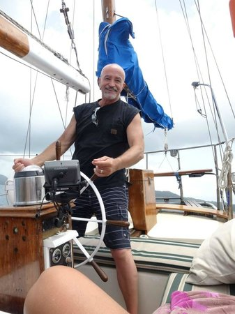 Marauder Sailing Charters - Private Tours: My husband got to steer the boat
