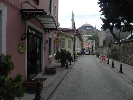 Zeynep Sultan Hotel: Vista a Santa Sofia