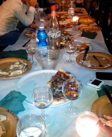 Parco dell'Etna: molta pizza rimasta e bordi immangiabili