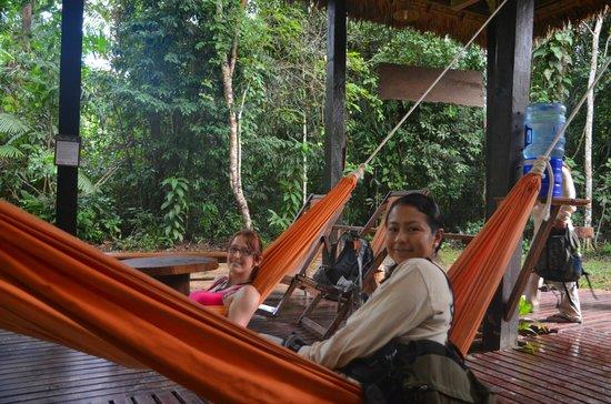 Posada Amazonas: hammock area