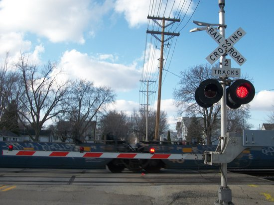 The railroad crossing gate picture of rochelle
