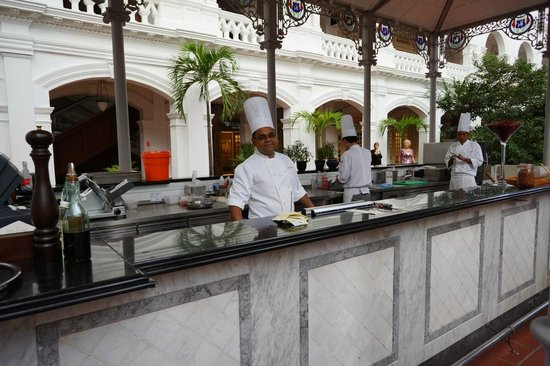 Raffles Grill: The main outside kitchen