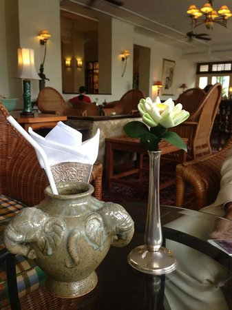Raffles Grand Hotel d'Angkor: Welcome drink and registration upon arrival