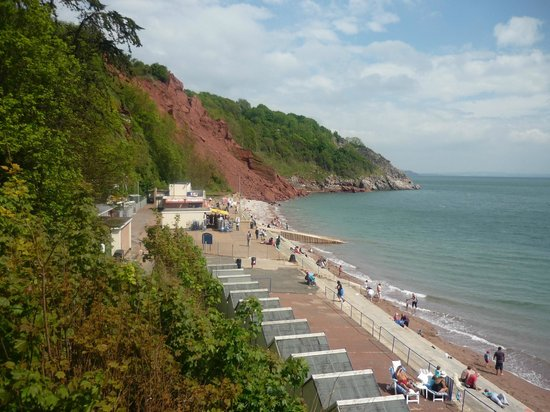 Babbacombe Cliff Railway: Lovely views of the beach