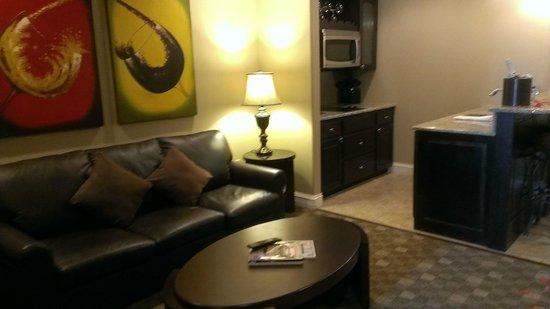 Camden on the Lake Resort : Living Room & Kitchenette area
