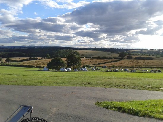 Out to Grass Campground: taken from the entrance looking down on the site
