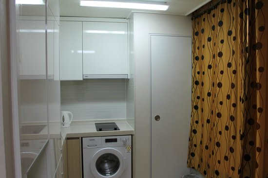 Golden Forest Residence: Comes with washing machine