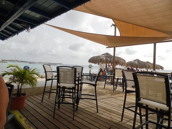 Divi Flamingo Beach Resort and Casino: View from the bar.