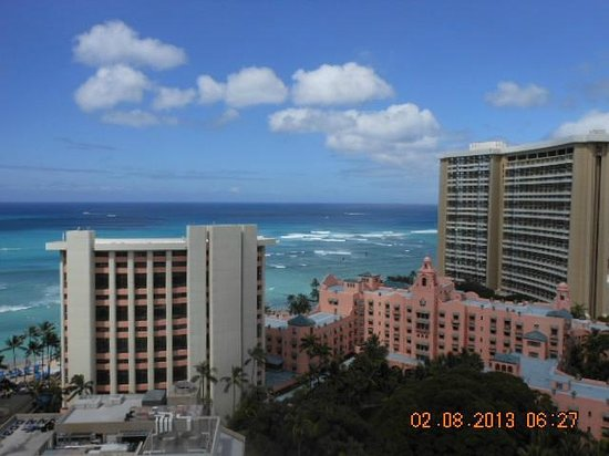 view of ocean and pink palace from balcony picture of. Black Bedroom Furniture Sets. Home Design Ideas