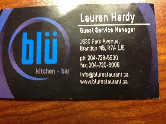 Blu Kitchen and Bar: Address and contact infor