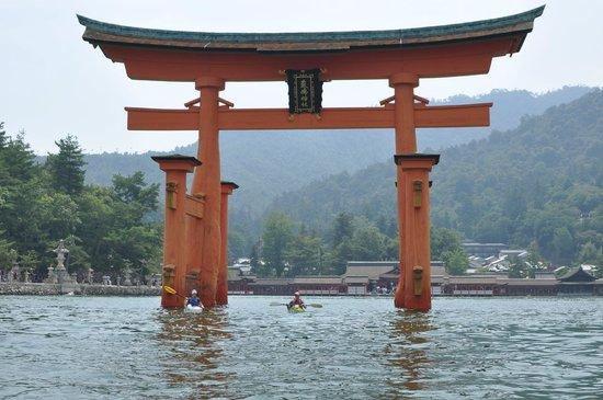 Paddle under the famous Miyajima Torii Gate - cool trip