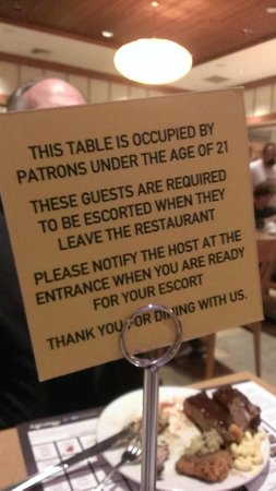 Mount Airy Casino Resort: Sign on Table