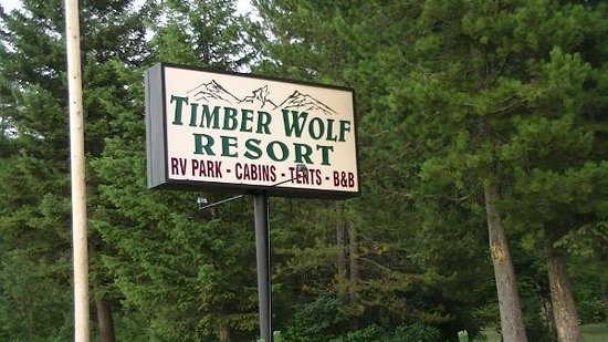 Timber Wolf Resort: sign