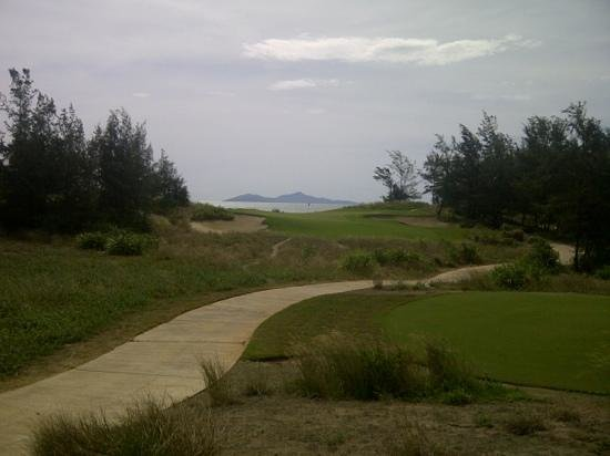 Danang Golf Club: one of the holes this morning.
