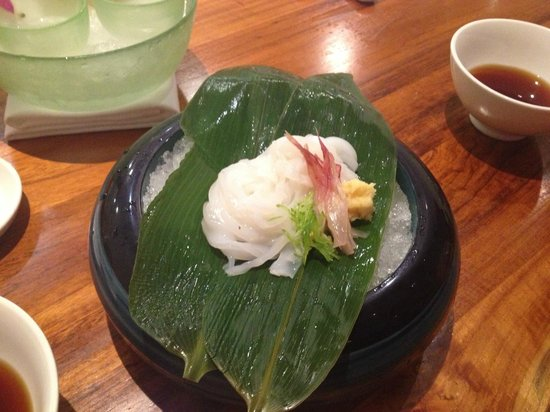 The Modern Honolulu: Raw squid noodles - delicious!