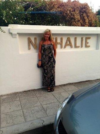 Nathalie Hotel: me outside the entrance...