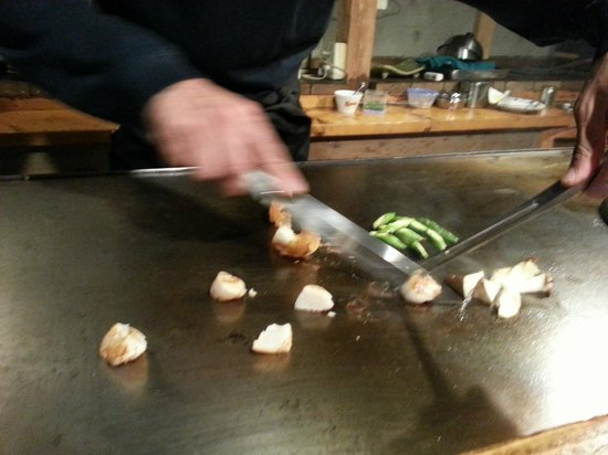 Aqua Alpine Hakuba : Local teppanyaki restaurant