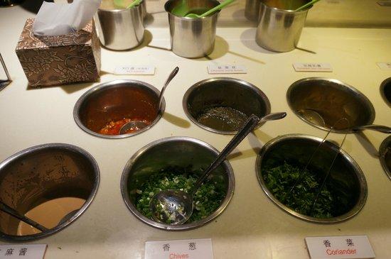BeiJing Haidilao Hot Pot (Wangfujing): Condiments