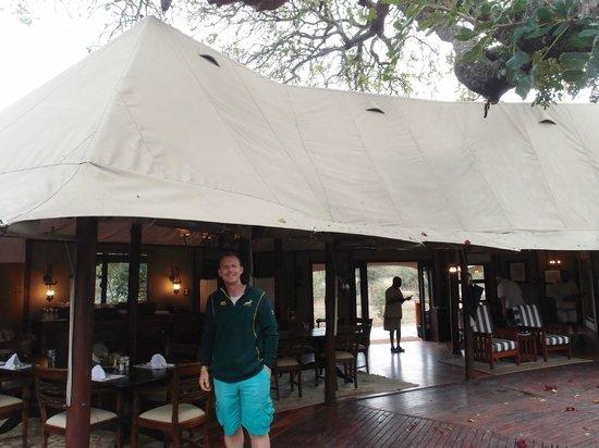 Hamiltons Tented Safari Camp: Main dining tent