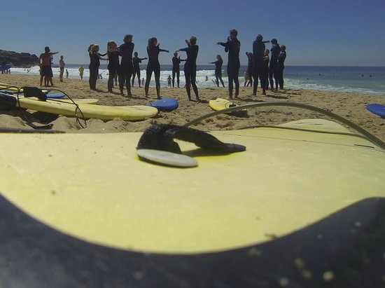 LIsbon surf experience with the girls from Amsterdam!