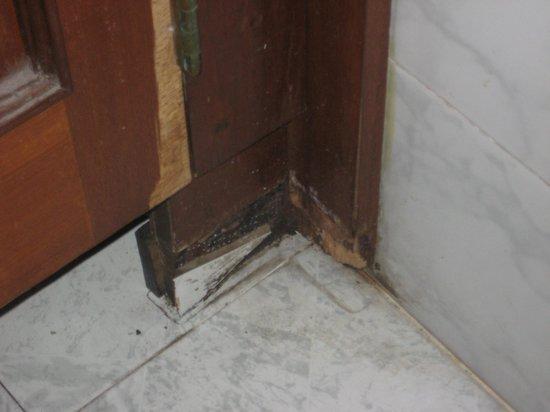 Queens Hotel: Gross....door in ladies room