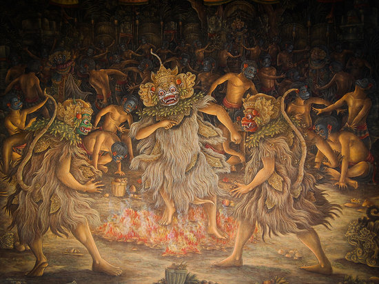 Three brother balinese painting