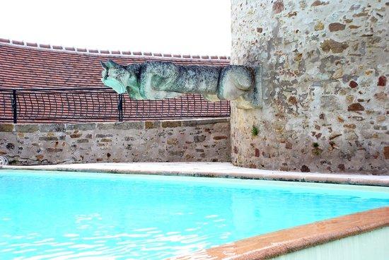 Logis Grand Hotel Montespan Talleyrand : La piscine et l'arrivée d'eau