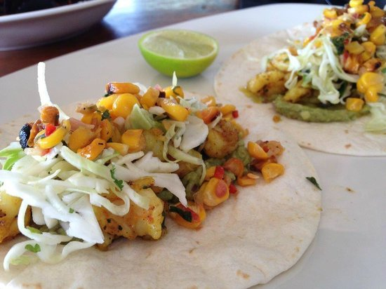 Cheeky Monkey Brewery and Cidery: King prawn tacos
