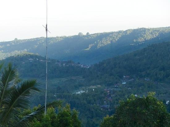 Taman Ayu Home Stay: vue du petit dejeuner le matin