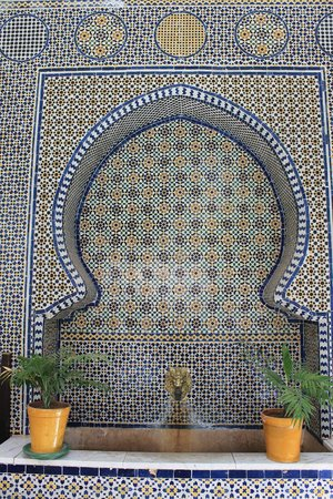 Palais Donab: A sink by the poolside