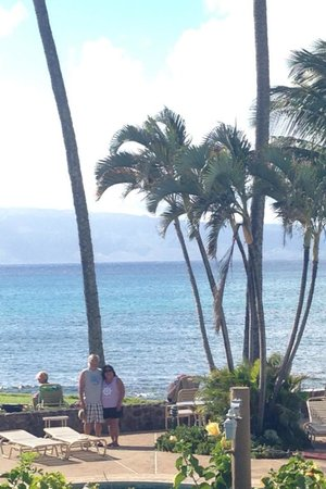 Napili Shores: View from our room with Molokai in the background