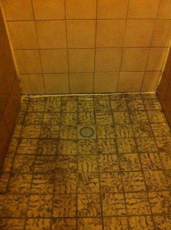 Hotel The Crown: douche avec lumière qui oscille à un autre étage que le notre. toutes les douches n'ayant pas un