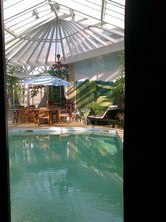 La Maison du Théâtre Saint-Bonnet  : véranda piscine couverte