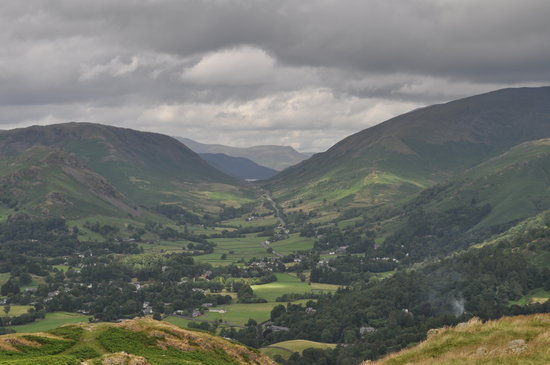 Ambleside, UK : Looking north past Grasmere towards Dunmail raise