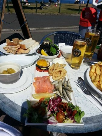 The Downs, Babbacombe: Seafood Platter, Cider & Chips!