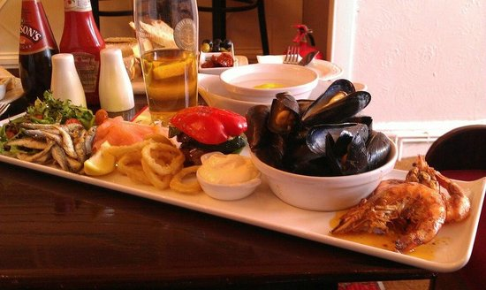 The Downs, Babbacombe: Seafood Platter